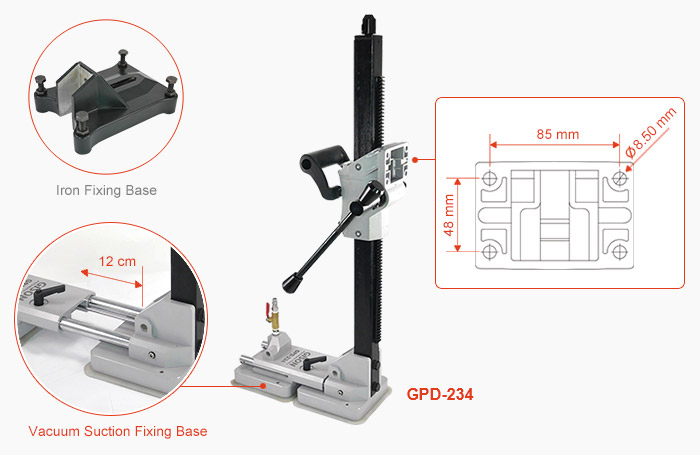 GPD-234 - drill stand with vacuum suction fixing base