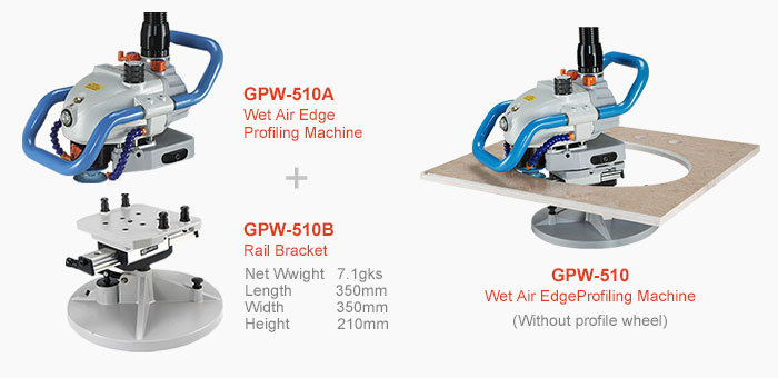 GISON's wet air edge profiling machine - GPW-510