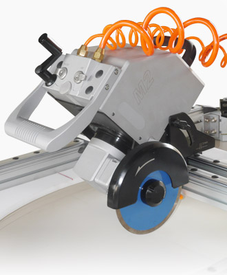 GISON's portable sink hole cutting machine can be used to cut stones and tiles.