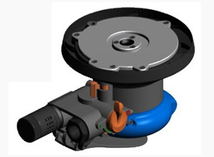 Air random orbital sander anti-clog design